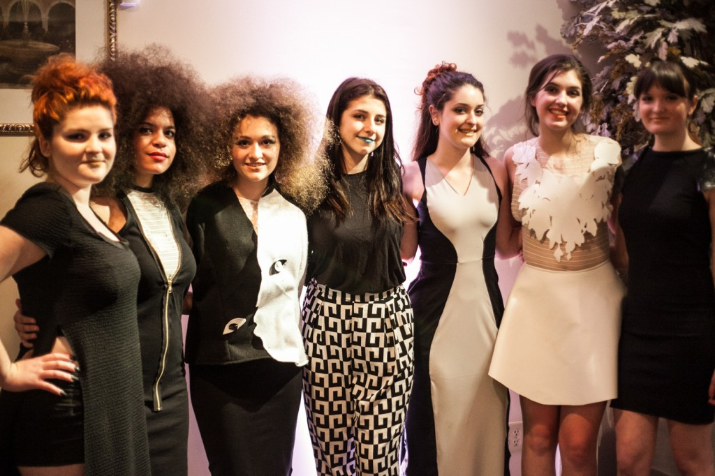 Student designer Ana Raiola and her models